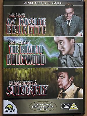 3in1 'MY FAVORITE BRUNETTE'/'THE ROAD TO HOLLYWOOD'/'SUDDENLY' Hope Bing Sinatra