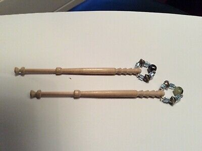 A pair of lacemaking bobbins