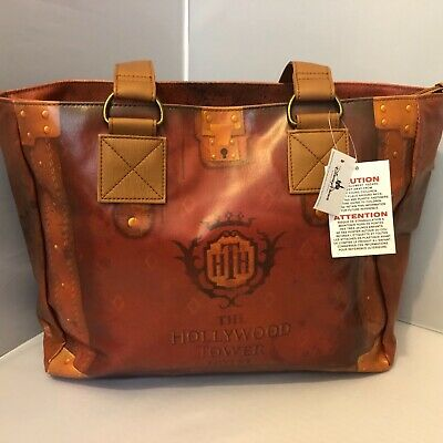 Disney Hollywood Tower Hotel Tote Bag ~ Holly Studios Tower of Terror Tote ~ NWT