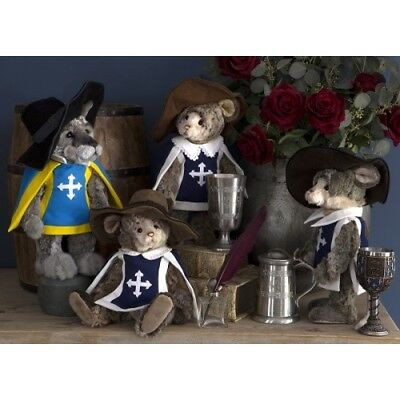 Charlie Bears MOUSEKATEERS Full Set of 4 (Limited to 600 Worldwide) RRP £320