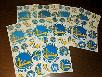 Lot of 10 Sheets Golden State Warriors Transfers / Stickers - Seconds/Misprints