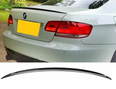 BMW E92 2dr coupe boot trunk lip spoiler M3 look gloss black UK OE quality