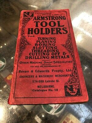 Armstrong Tool Vintage Catalogue & Price List Melbourne 1920's