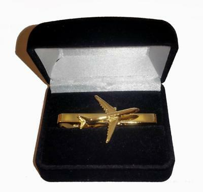 Pliers Or hairpin tie Airbus A330 Golden Gold 22K tiebar