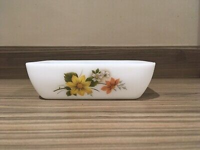 Pyrex Autumn Glory Butter Dish/Individual Oven Dish No Lid
