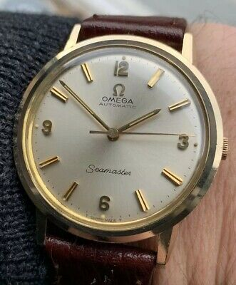 Classic Mens Omega Seamaster 9ct Solid Gold Automatic Watch Cal 552.Stunning!