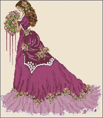 Summer Lady - Cross Stitch Chart - Digital Format