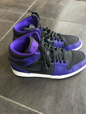 the best attitude 1d7f5 1f835 Nike Men s Size 10.5 Air Jordan 1 Mid Black Dark Concord White (554724