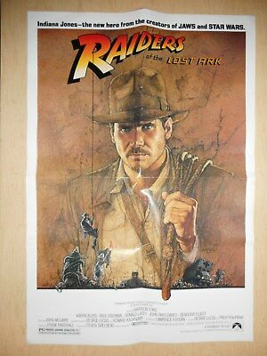 Original 1981 Raiders of the Lost Ark Video Release Poster - 1 Sided