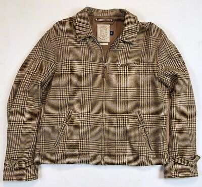 03fa71800 Polo Ralph Lauren Golf Mens Glen Plaid 1920 s Tweed Jacket Coat Brown Beige  L
