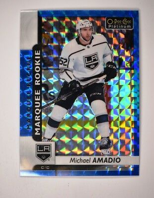 2017-18 OPC Platinum Royal Blue Cubes Marquee Rookies #199 Michael Amadio /99