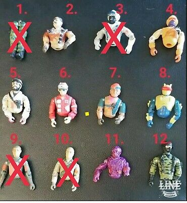 GI Joe Vintage Lot Of Action Figures  parts for replacements