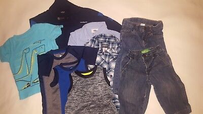 Lot 10 pieces toddler boys clothes 12-18 months Baby Gap Nautica Old Navy...