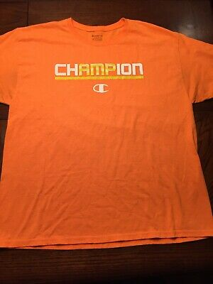 c338871d Vintage Champion Spell Out Short Sleeve T Shirt XL 90s Rare YELL/WHT  SPELLOUT