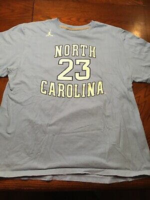 4d98088aefe1 RAREVintage Large Nike Jordan UNC Jumpman 23 North Carolina Blue T-shirt XXL