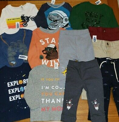 Old Navy Boys 12-18 MONTH Long Sleeve Shirts 12 PIECE Clothing Lot #24-297-19