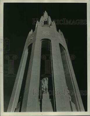 1938 Press Photo Elephant Tower At Main Entrance Of 1939 Golden Gate Exposition