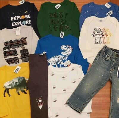 Old Navy Boys 18-24 MONTH Long Sleeve Shirts 10 PIECES Clothing Lot  #22-299-19