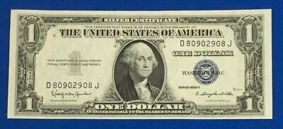 1935H $1 Blue Choice Crisp AU SILVER Certificate X908 Old US Paper Currency