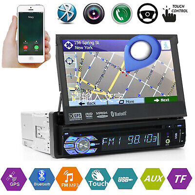 Single DIN Android 9.1 Car Stereo DVD Player In-Dash GPS Radio HD CAM