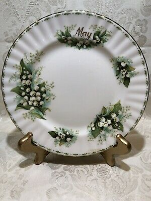 "Royal Albert  Flower of the Month 8.25"" Salad Plate  May - Lily of the Valley"