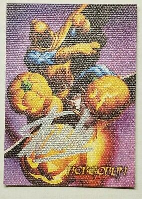 SIGNED STAN LEE 1996 FLEER SPIDER-MAN PREMIUM CANVAS HOBGOBLIN #2 amazing 238