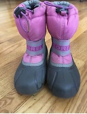7acac108d76e1 SOREL 1964 PAC Strap Boots Pink Kids Girls Size 12 Suede Leather ...