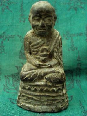 "3"" Phra Lp Tuad Statue Worship Wat Changhai Power Protection Thai Buddha Amulet"