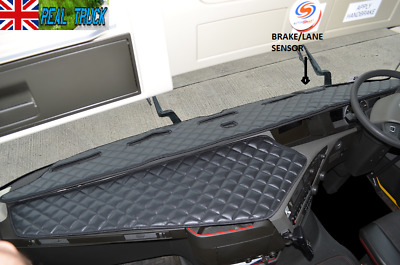 Eco Leather Dash Mat Fit  Volvo  Fh 4 2013+ [ Black ]  -  With Space For Sensor