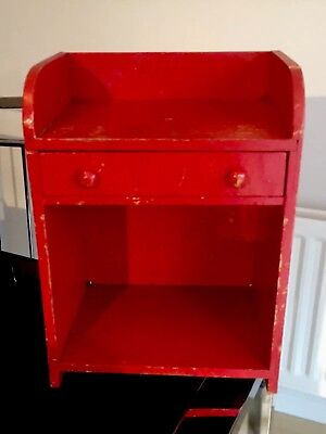 Antique Painted Oak Small Child Drawer Unit Wood Knobs Nursery Apprentice Piece