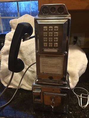 Automatic Electric Three Slot / Push Button Working Payphone
