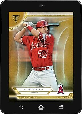 Topps BUNT Mike Trout GOLD BASE TRIPLE THREADS 2019 [DIGITAL CARD] 250cc