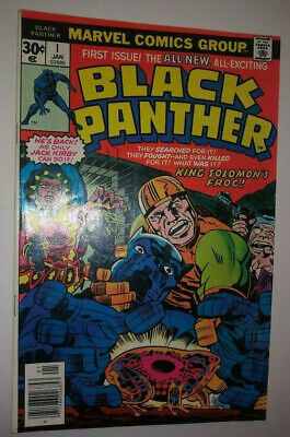 Black Panther #1 Vol. 1 1977 FN/VF 7.0 Off White Pages AVENGERS Marvel Comics