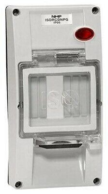 Iso RCD BACK BOX COVER 2-Gangs, Industrial & Commercial Use, Resistant White