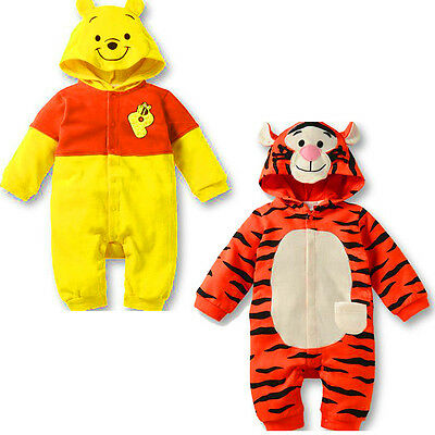 Baby Kid Newborn Tiger Bodysuit Romper Jumpsuit One-Piece Outfit Costume Clothes