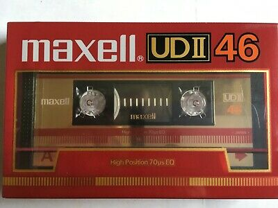 Maxell Udii 46 Factory Sealed Audio Cassette Japan