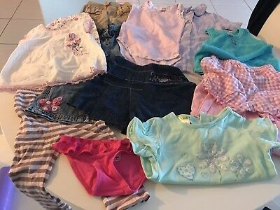 Bulk Lot Of  12 Girls Size 1 Assorted Clothes