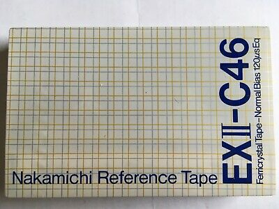 Nakamichi Reference Tape Exii-C46 Factory Sealed Audio Cassette Japan