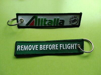 Llavero Alitalia - KEYCHAIN - REMOVE BEFORE FLIGHT - AVION - ITALIA