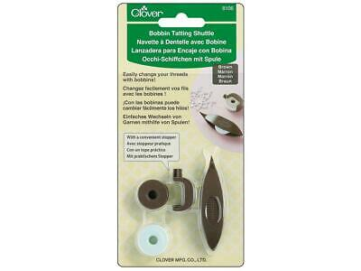 Clover Clo8106  Bobbin Tatting Shuttle Set Brown