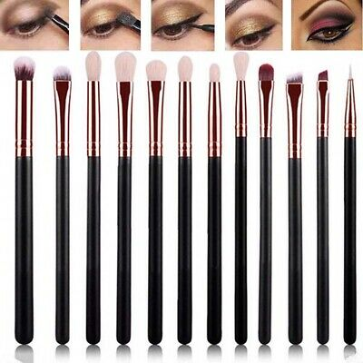 12pcs Eye Cosmetic Brush Set Eyeshadow Eyebrow Blending Brush Set Makeup Brushes