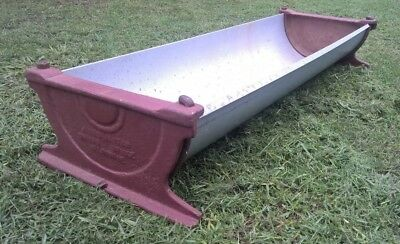 Antique Vintage Farm Pig Trough - James Alston Cast Iron Ends - Garden Plant Pot