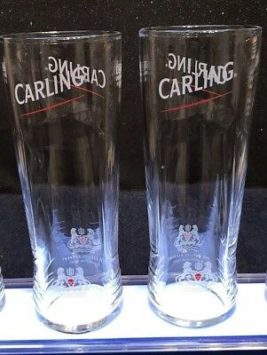 2019 New Design Carling Lager Half Pint Glasses x2 CE Marked New And Unused