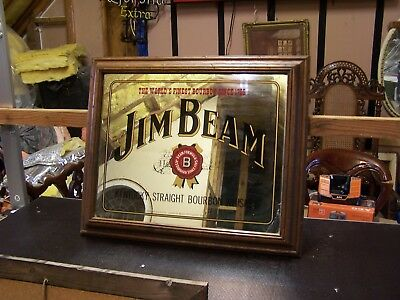 Jim Beam Bar Mirror Suit - Bar- Man Cave - Pool Room - Christmas Present