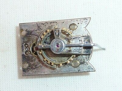 Old Very Small Carriage Clock Platform Escapement  26mm x 19mm