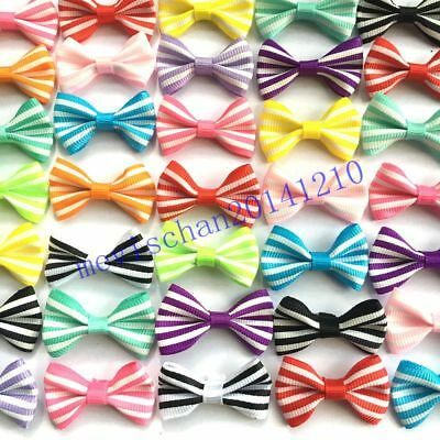 10PCS/lot Handmade colorful Kids Baby Girl bow DIY accessories bowknot(no clip)