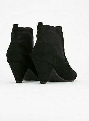 b08666fa87c Evans EXTRA WIDE FIT Black Low Heel ANEKA Ankle Boots Size UK 6 6EEE Ladies