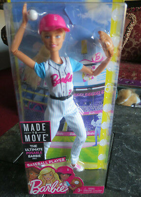 Doll Barbie Made to Move Baseball Player Ultimate Posable NEW NIB