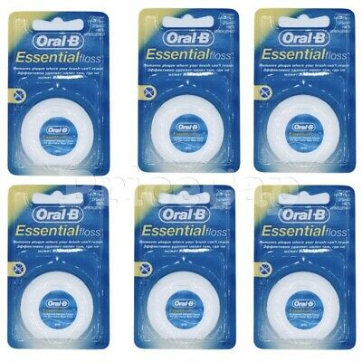 36 x Oral B Floss Essential Regular Floss, Dental Unwaxed Floss