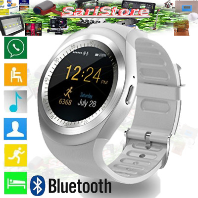 Smartwatch Android iOS Bluetooth Orologio Telefono Cellulare Sim card TF Touch